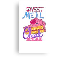 Cheat Meal Sweet Meal Canvas Print
