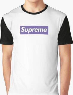 Supreme Purple Graphic T-Shirt