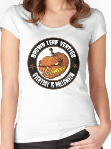 Brown Leaf Vertigo Fiendish Club Women's Fitted Scoop T-Shirt