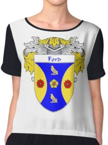 Ford Coat of Arms/Family Crest Chiffon Top