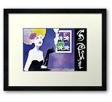 Blue SOUL Framed Print