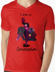 I am a conversation Mens V-Neck T-Shirt