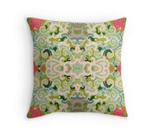 Stabilized Royal Cream Icing on Glass: Candied Earth Throw Pillow