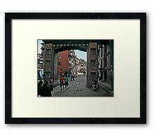 Thamel Gateway Arch Framed Print