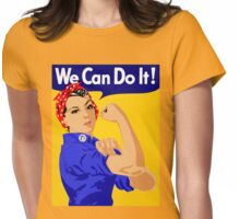 "Rosie The Riveter - ""We Can Do It!"" Poster .  Womens Fitted T-Shirt"