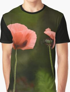 Couple Pink Oriental Poppies  Graphic T-Shirt