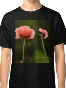 Couple Pink Oriental Poppies  Classic T-Shirt