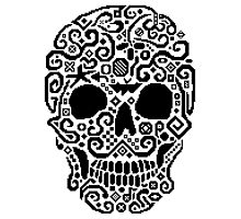 Skull and Cross Stitch Photographic Print