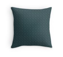 Dark Blue Stitches Throw Pillow