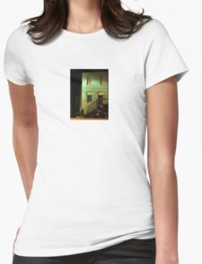 Night Alley And Building Womens Fitted T-Shirt