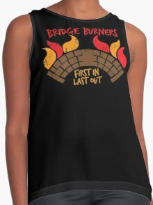 Bridge BURNERS DISTRESSED VERSION first in last out  Contrast Tank