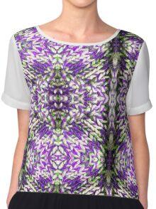 Purple Knitted Circles Chiffon Top