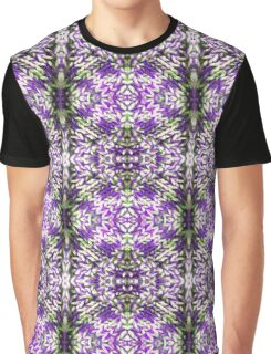 Purple Knitted Circles Graphic T-Shirt