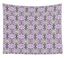 Purple Knitted Circles Wall Tapestry