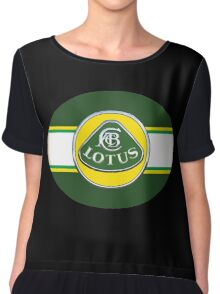 Vintage lotus Cars Chiffon Top