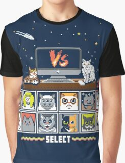 Internet Cat Fight Graphic T-Shirt