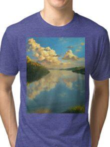 Volga Landscape Tri-blend T-Shirt