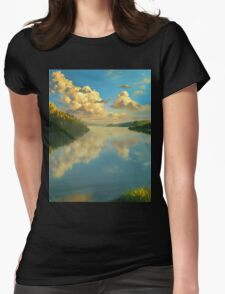 Volga Landscape Womens Fitted T-Shirt