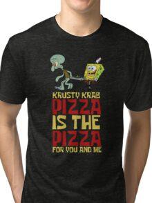 Krusty Krab Pizza - Spongebob Tri-blend T-Shirt