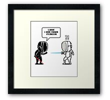 Luke.. I Am Your Fencer Framed Print