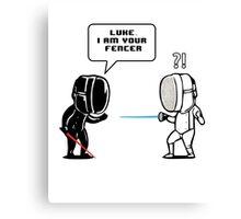 Luke.. I Am Your Fencer Canvas Print