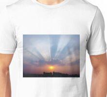Majestic Blue Rays Unisex T-Shirt