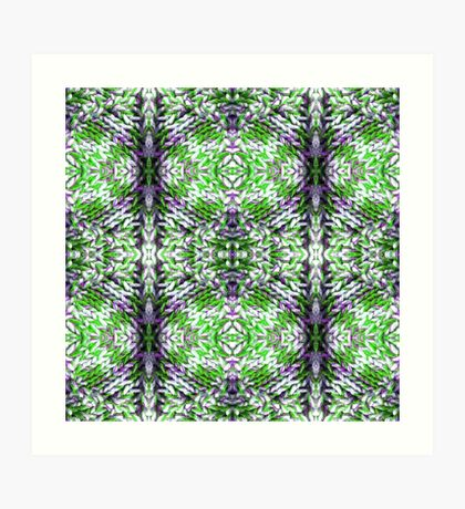Green and Purple Knit Art Print