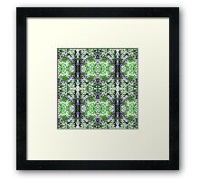 Green and Purple Knit Framed Print