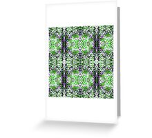 Green and Purple Knit Greeting Card