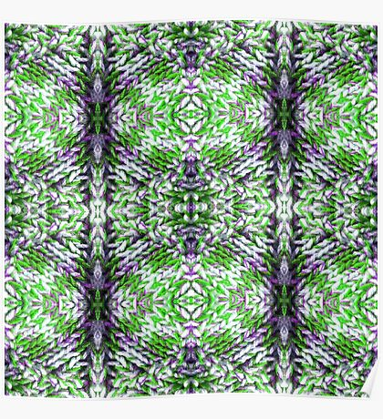 Green and Purple Knit Poster
