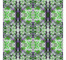 Green and Purple Knit Photographic Print