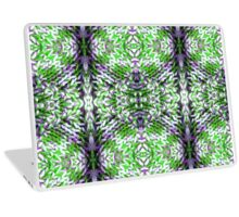Green and Purple Knit Laptop Skin
