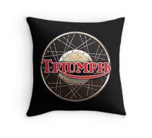 Triumph Motorcycles England Throw Pillow