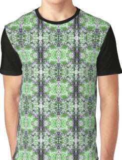 Green and Purple Knit Graphic T-Shirt