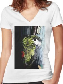 My Little Green One Women's Fitted V-Neck T-Shirt