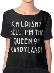 Queen of Candyland White Chiffon Top
