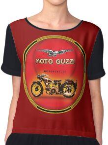 Moto Guzzi vintage Motorcycles Chiffon Top