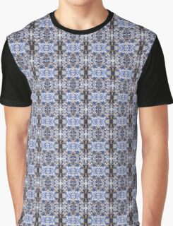 Blue Knitted Circles Graphic T-Shirt