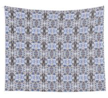 Blue Knitted Circles Wall Tapestry