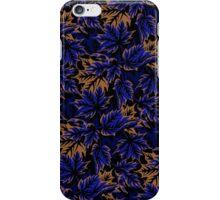 Leaves - Dark blue/beige iPhone Case/Skin