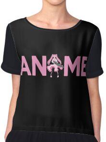 Anime Shirt Chiffon Top