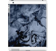 Blue-Black Ink Swirl iPad Case/Skin