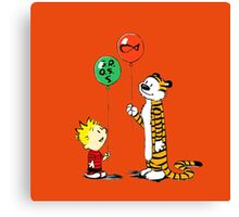 calvin and hobbes ballon Canvas Print