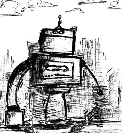 = the Robot - White BG Sticker