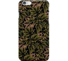 Leaves - Dull Green iPhone Case/Skin