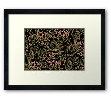 Leaves - Dull Green Framed Print