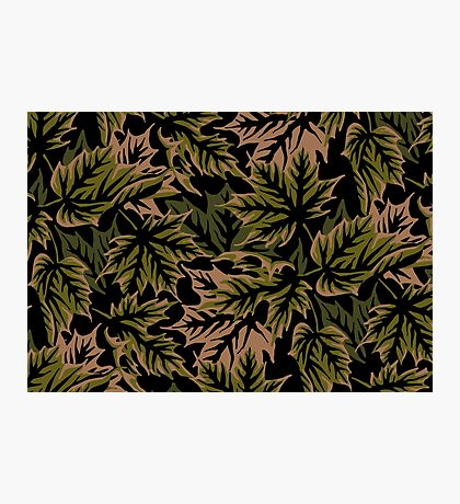Leaves - Dull Green Photographic Print