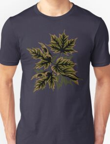 Leaves - Dull Green Unisex T-Shirt