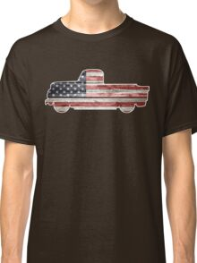 Patriotic Vintage Pickup Truck Classic T-Shirt