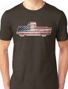 Patriotic Vintage Pickup Truck Unisex T-Shirt